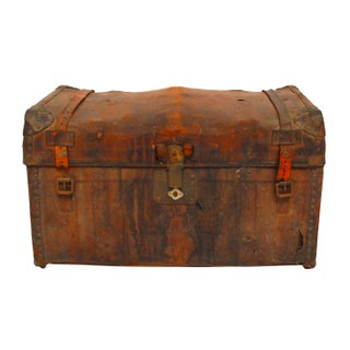Antique Leather Steamer Trunk