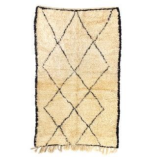 "Vintage Beni Ourain Moroccan Rug - 4'9"" x 8'"