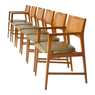 Six Edward Wormley Dining Chairs