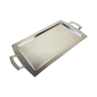 Modernist Silver Plated Swiss Serving Tray