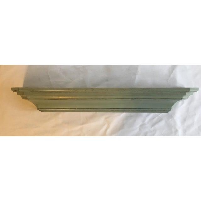 Blue Distressed Floating Wood Shelf Chairish
