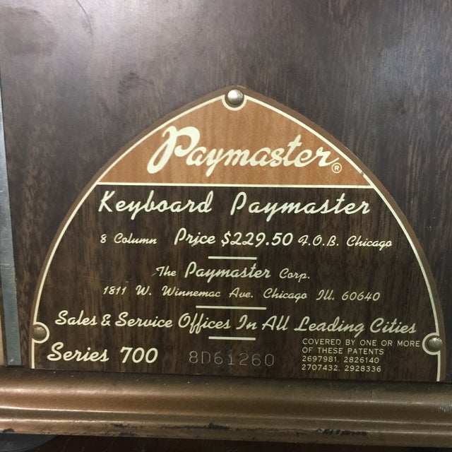 Image of Vintage Paymaster 700 Check Writer