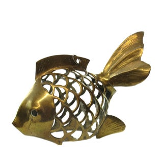 Carved Hollow Brass Koi Fish