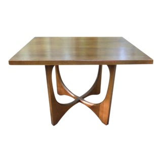 Broyhill Brasilia Sculptural Walnut Side Table For Repair