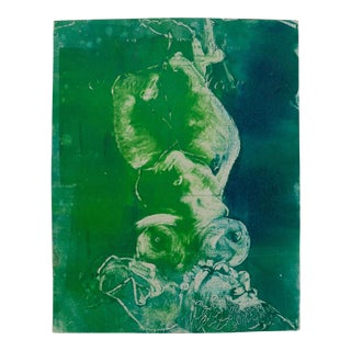 Mermaid in Green Monoprint