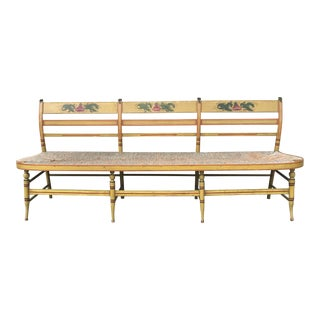 American Federal Painted Settee Bench