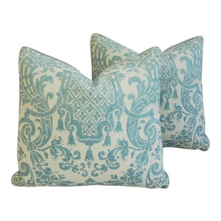 Custom Italian Mariano Fortuny Carnavalet Pillows - A Pair