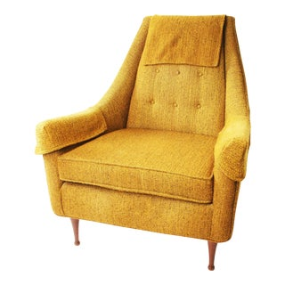 Mid Century Modern Upholstered Lounge Chair by Flexsteel