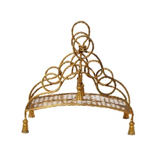 Vintage Hollywood Regency Gilt Magazine Rack