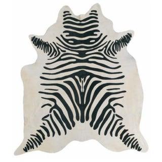 "Zebra Hide Rug - 6'x4'5"""
