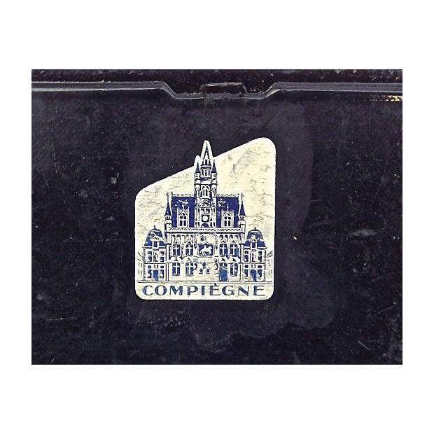Image of Antique Papier-Mâché Rose Pencil Box
