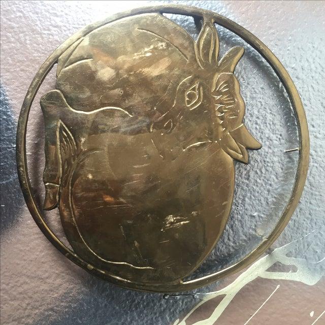 Vintage Solid Brass Sitting Cow Potholder Decor - Image 4 of 4