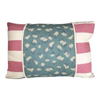 Kim Salmela Aqua Pink Patchwork Pillow