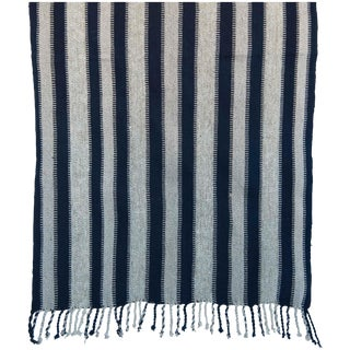 Striped Indigo Blue Guatemalan Table Runner