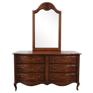 Drexel French Provincial Dresser & Mirror