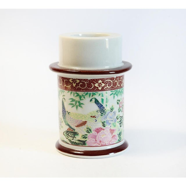 Japanese Floral Motif Candle Holder - Image 2 of 5