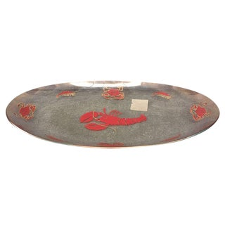 Vintage Glass Lobster Platter