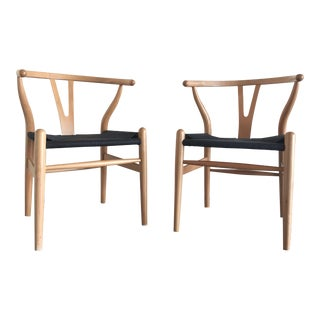 Mid-Century Wishbone Chairs - A Pair