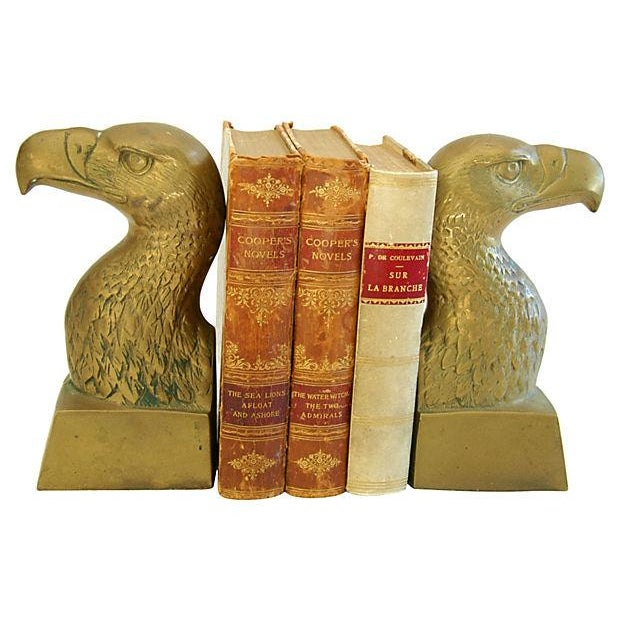Vintage Patriotic Brass Bald Eagle Bookends - A Pair - Image 2 of 5