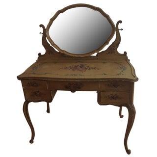 19th-Century Italian Vanity with Mirror