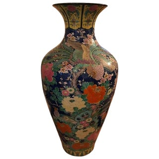Palace Size Porcelain Vase with Floral Motif