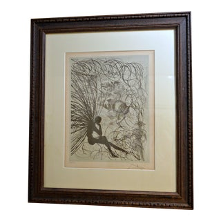 Napoleon & the Angel by Dali/Framed Etching
