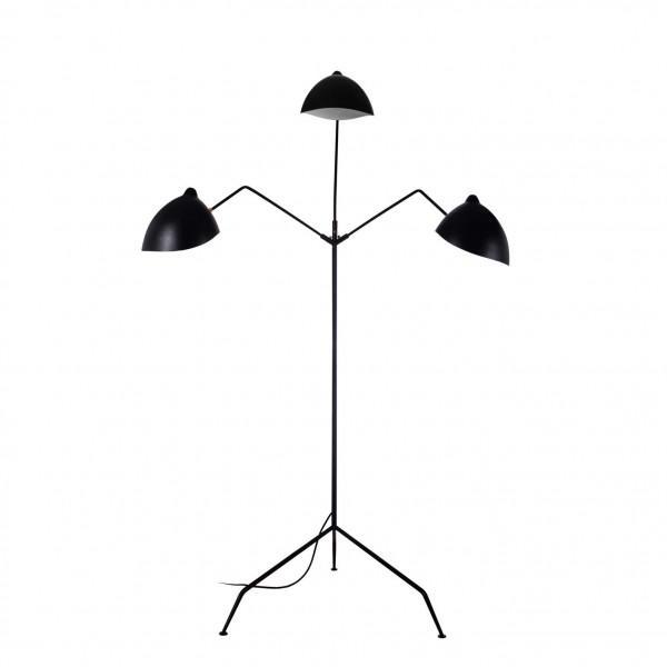 Image of Stilnovo Holstebro Modern Black Floor Lamp