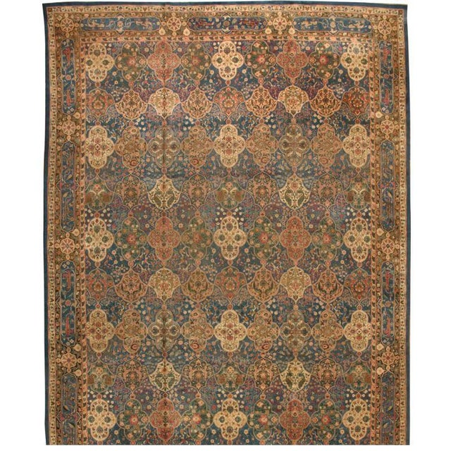 Antique Oversize 19th Century Indian Amritsar Carpet - Image 1 of 1
