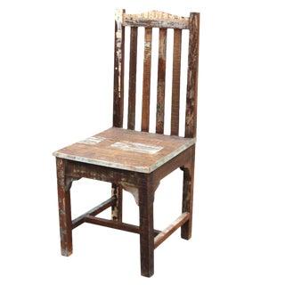 Reclaimed Teak Boho Side Chair