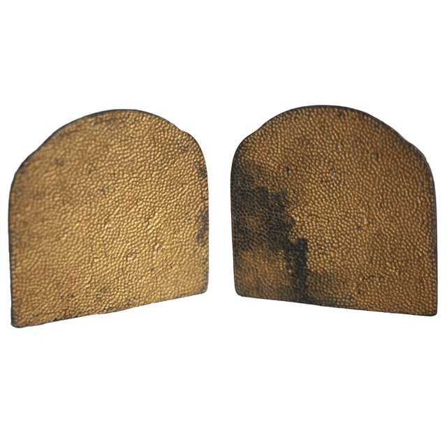 European Antique Brass Bookends - Image 4 of 6