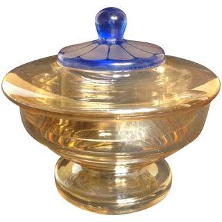 Vintage Art Deco Iridescent Czech Glass Candy Dish