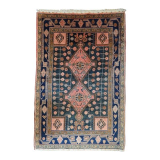 "Antique Persian Lilihan Rug - 4'10"" X 7'5"""