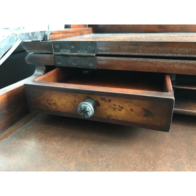 Burled Wood Lift Top Secretary Desk - Image 6 of 10
