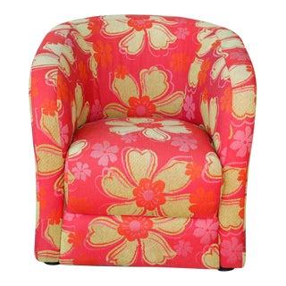 Bright Floral Club Chair