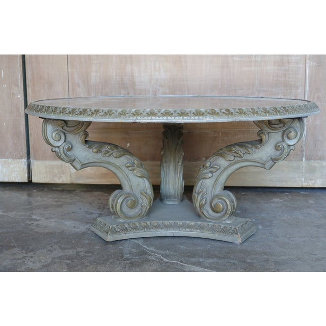 Acanthus Carved Italian Coffee Table - Image 3 of 9