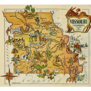 Vintage Missouri Pictorial Map, 1946