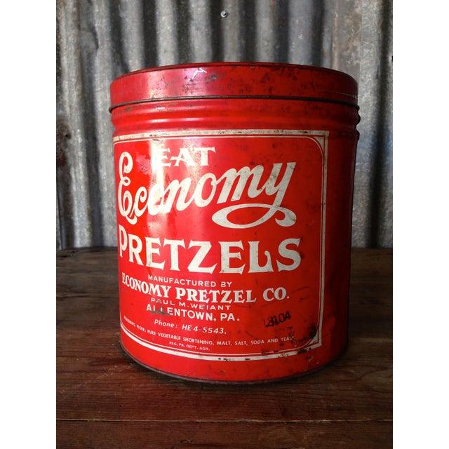 Vintage Eat Economy Pretzels Container - Image 2 of 8