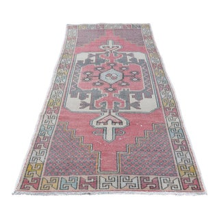 Turkish Faded Anatolian Area Rug - 4′1″ × 8′6″