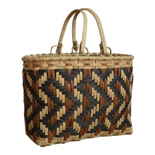 Carol Welch Cherokee White Oak Purse Basket