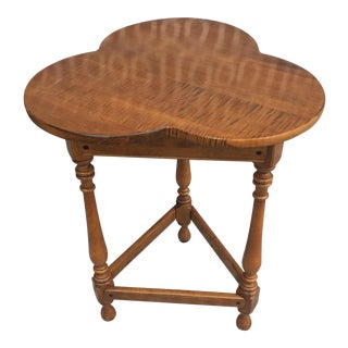 Ethan Allen Trefoil Top Side Table