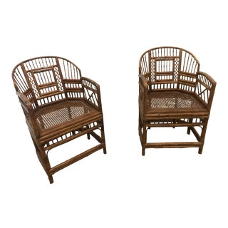Mid-Century Bamboo Chairs - A Pair