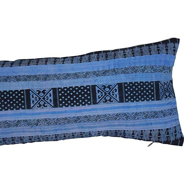Silk Hill Tribe Indigo Textile Pillow - Image 5 of 5