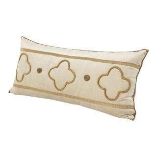 Long Velvet Embroidered Pillow