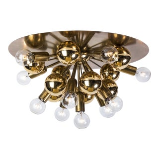 Exquisite Mid-Century Modern German Sputnik Flush Mount