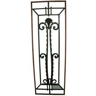 French Art Deco Iron Grill