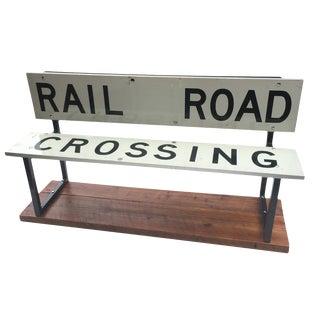 Railroad Crossing Children's Bench