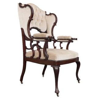 Mahogany Wingback Armchair