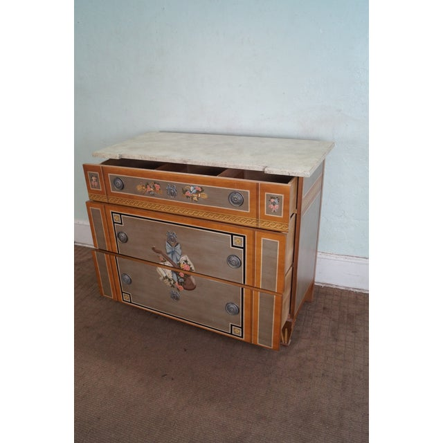 Drexel Heritage Paint Decorated French Style Chest - Image 2 of 10