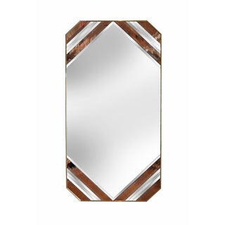Deco Style Blush Pink & Brass Floor Length Mirror