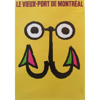 1984 Vintage Travel Poster, Festival du Vieux Port Montreal